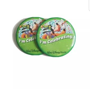 "Walt Disney World Set of 2 ""I'm Celebrating"" Pin"
